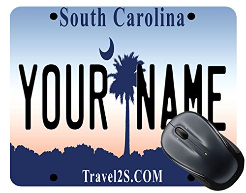 BleuReign(TM) Personalized Custom Name South Carolina State License Plate Square Mouse Pad (Stingray Mouse Pad)