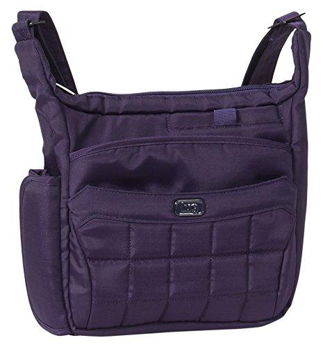 Lug Flutter Mini Cross Body Messenger Bag, Brushed Concord Purple, One Size (Model: Flutter 2-Brushed Concord) LUGCA FLUTTER 2.0-BRUSHED CONCORD