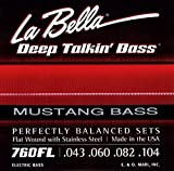 LaBella 760F-MUS Stainless Steel Flat Wound Bass Strings, Custom