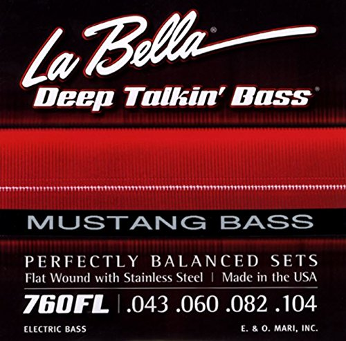 LaBella 760F-MUS Stainless Steel Flat Wound Bass Strings, Custom from La Bella