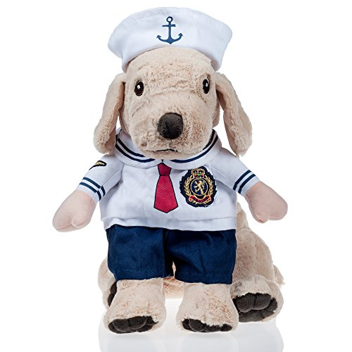 [He&Ha Pet Clothes Cosplay apparels dress for Small Medium Dog and Cat (Navy suit, M)] (Boston Terrier Yoda Costume)