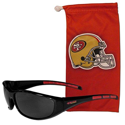 Siskiyou NFL San Francisco 49ers Adult Sunglass and Bag Set, Red -