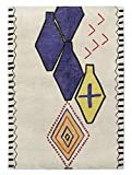 KAVKA Designs Bousslama Area Rug, (Red/Blue/Orange/Ivory) - NAVAJO Collection, Size: 5x7x.5 - (TELAVC8095RUG57)