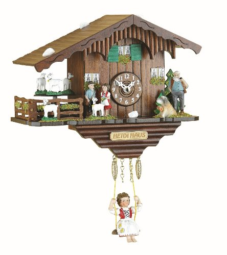 - Trenkle Black Forest Clock Swiss House with Turning Goats, no Cuckoo Call