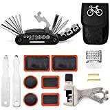 TARWAY Mini Bike Repair Tools Kits - 16 in 1 Bicycle Essential Multi Tools Set, Portable Bike Kit Repair Set, Bike Tool Bicycle Repair Kit Bicycle Tools Tire Patch Levers Bicycles (Bike Tools kit)
