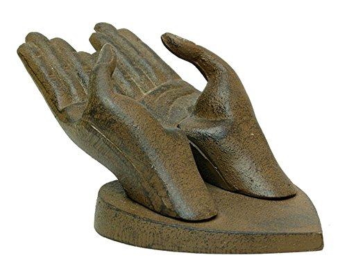 - Iwgac Home Indoor Decorative Cast Iron Hands Business Card Holder