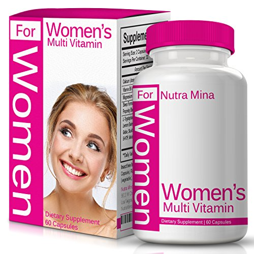 (Multivitamins for Women Advanced Blend with Female Support, Contains Vitamins, Minerals and Antioxidants Essential for A Woman's Unique Needs, Daily Multivitamin Made in USA)