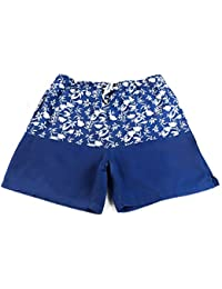 Athletic Mens Swim Trunks Quickly Drying Flamingo Printed Board Shorts