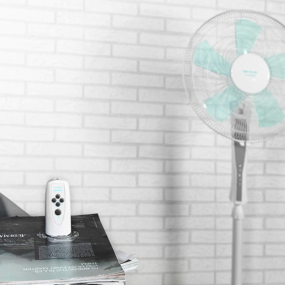 Cecotec Ventilador de Suelo EnergySilence 530 Power Connected White. 5 Aspas de 12