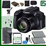 Canon PowerShot SX60 HS Digital Camera with Wi-Fi Black + 32GB Green's Camera Tripod Bundle