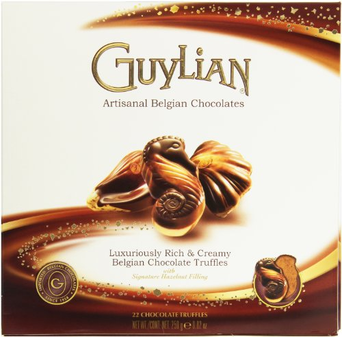 Guylian Seashells - Guylian Belgium Chocolates 22 Piece Artisinal Seashell Truffles, Hazelnut Filling, 8.8 Ounce