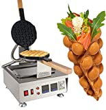 Egg Bubble Waffle Maker Professional Rotated Nonstick ALD Kitchen (Grill / Oven for Cooking Puffle, Hong Kong Style, Egg, QQ, Muffin, Cake Eggettes and Belgian Bubble Waffles) (NP 810 Digital 110V)