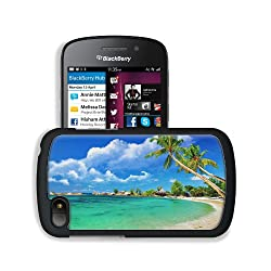 Tropical Palm Trees Beaches Scenery BlackBerry SQN100 Q10 Snap Cover