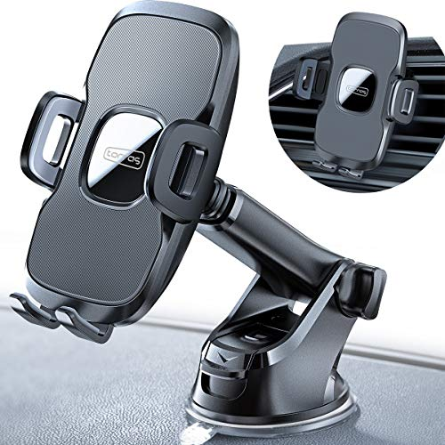 TORRAS Cell Phone Holder for Car Dashboard & Windshield & Air Vent Car Phone Mount with Upgraded Stronger Suction Cup Compatible with iPhone 11 Pro/X Max/XR/XS/X/8 plus/8/7, Galaxy Note 10 plus/S9+/S8 (Best Windows 8 Phone)