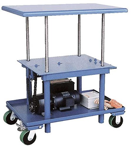 Rolling Workbench - High Profile - AC Power - BMT Series; Platform Size (W x L): 30'' x 42''; Capacity (LBS): 2,000; Raised Height: 46''; Lowered Height: 28''; Caster Type: 17'' x 14'' polyurethane by Beacon World Class Products (Image #1)