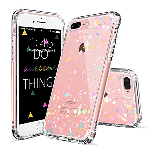 Price comparison product image iPhone 7 Plus Case, iPhone 7 Plus Cover, MOSNOVO Colorful Confetti Pattern Clear Design Printed Plastic Hard Back Case with Soft TPU Gel Bumper Protective Case Cover for Apple iPhone 7 Plus (5.5 Inch)