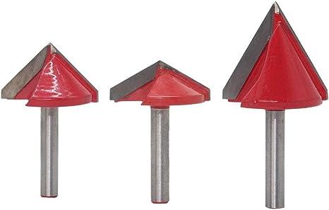 2 Stück 8mm Schaft Holzbearbeitungsfräser V-Nut 60 Grad