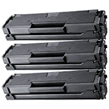 3 Pack - Compatible Black High Yield Toner Cartridge for MLT-D101S 101S D101S Works With Following Printer Models: Samsung ML-2160 ML-2165 ML-2165W SCX-3400 SCX-3400F SCX-3400FW SCX-3405FW SCX-3405W SF-760P by Forlei® Products