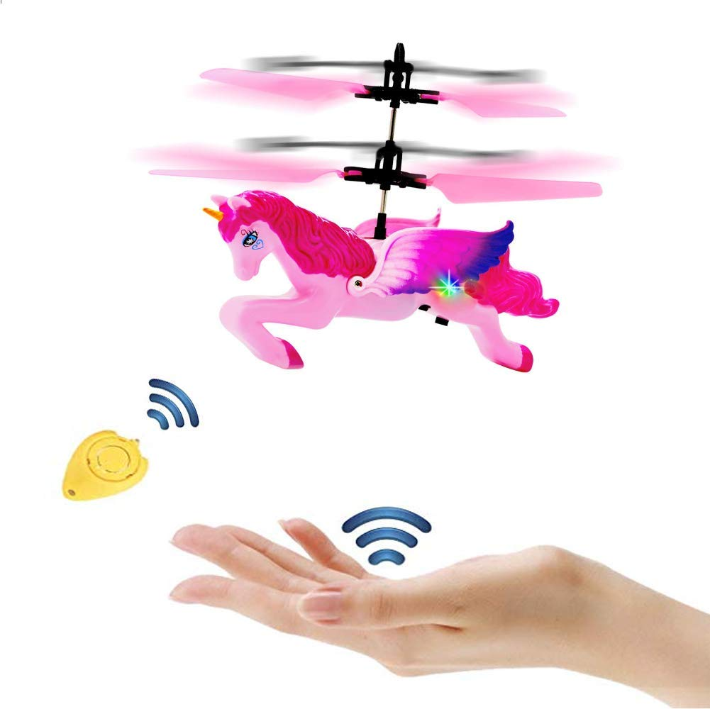 Weide Flying Unicorn 8 9 10 11 12 13 Years Old Toy. Infrared Induction Helicopter Remote Drone Child Birthday Gift. by Weide