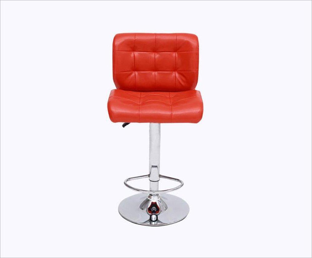 GRJH® バースツール、バーアイロンハイスツール回転カフェカウンターハイバックウッディークリエイティブレトロ背の高いフロントデスクキッチンチェアヨーロピアンハイ5979cm 安全性,快適 (色 : 赤) B07D3JQKX2 赤 赤