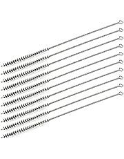 Utoolmart Steel Wire Cleaning Brush, Spiral Power Tube Brush, Steel Wire Tube Brush Cleaning Tool, Tube Bottle Brush, 0.3-inch Diameter 12-inch Length, 10pcs