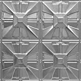 Shanko ST314DA Pattern 314 Authentic Pressed Metal Wall and Ceiling Tiles, 20 sq. ft., Unfinished Steel
