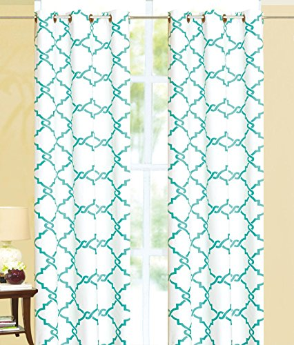 Ace 21 Geometric Modern Print Insulated 100% Thermal Blackout Window Grommet Curtain Panel (95