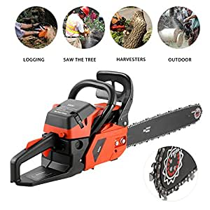 58cc Gas Powered Chainsaw 20 Inch 2 Cycle Gas Chainsaw with Carry Bag (US Stock)