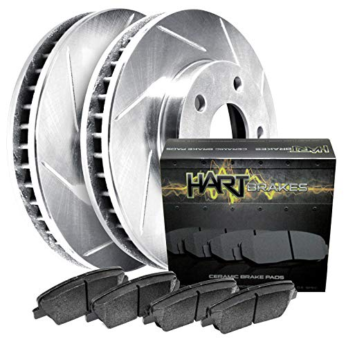 Fit Mercedes-Benz CL550, S550, S400 Rear Slotted Brake Rotors+Ceramic Brake Pad