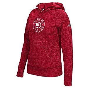 adidas NBA Atlanta Hawks Women's Team Logo Fleece Pullover Hoodie, Small, Red