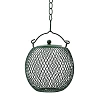 Gray Bunny GB-6899GR Hanging Mesh Ball Bird Feeder, Green, Durable Metal, Rust & UV Resistant, Outdoor Wild Bird Peanut Feeder Sunflower Seed Ball, Holds 3 Cups