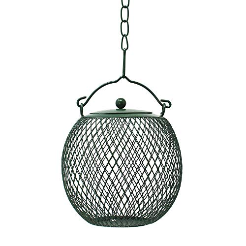 (Gray Bunny GB-6899GR Hanging Mesh Ball Bird Feeder, Green, Durable Metal, Rust & UV Resistant, Outdoor Wild Bird Peanut Feeder Sunflower Seed Ball, Holds 3)