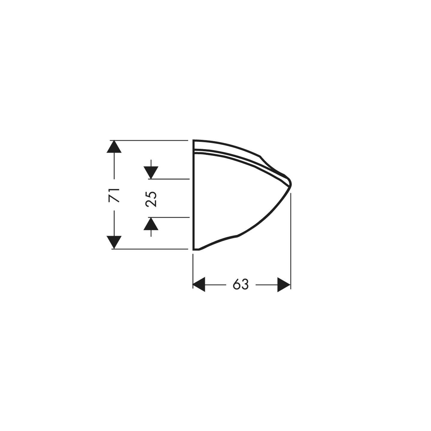 Hansgrohe 27521000 PorterC soporte de ducha cromo