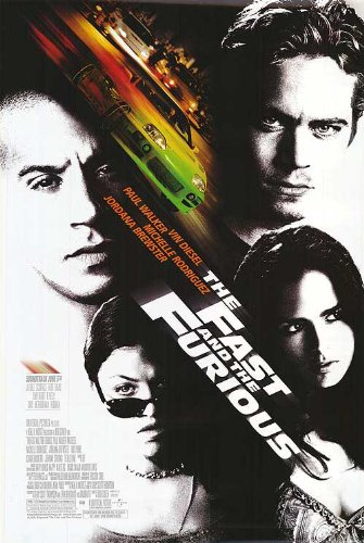 THE FAST AND THE FURIOUS MOVIE POSTER 2 Sided ORIGINAL 27x40 VIN - Vin Brand Diesel