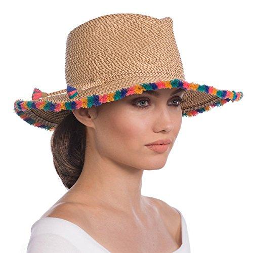 Eric Javits Luxury Fashion Designer Women's Headwear Hat - Frida - Peanut Mix by Eric Javits