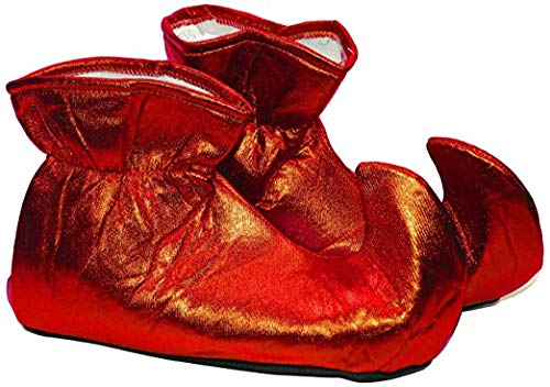 Forum Novelties Women's Deluxe Costume Cloth Elf Shoes, Red, One -
