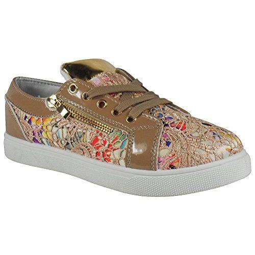 Loud Look - Zapatos Planos con Cordones mujer - BEIGE FLOWER
