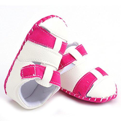 Estamico bebé niños sandalias verano niño Mocasín rojo 1