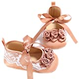 Bow Ribbon Flower Girl Princess Shoes Lace Bow Pram Soft Soles Shoe Brown 2