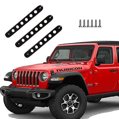 - Brushed Aluminum Door Grab Handle Inserts Cover Trim for 2007 2008 2009 2010 2011 2012 2013 2014 2015 2016 2017 2018 Jeep Wrangler JK G019JP
