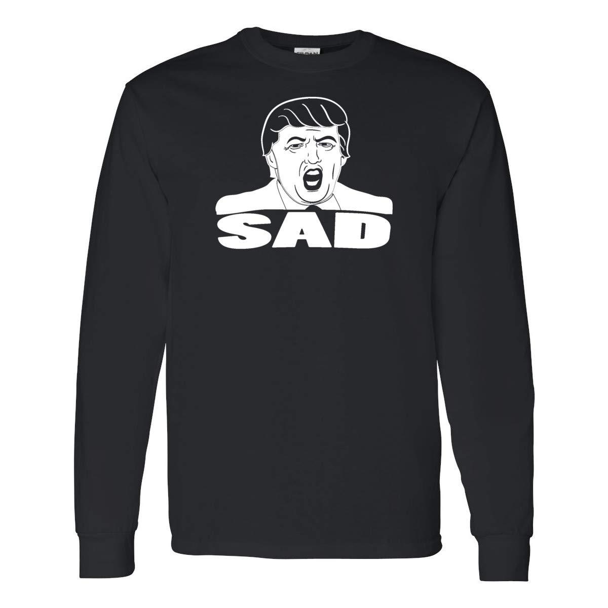 Donald Trump Sad Mens Long Sleeve Shirts
