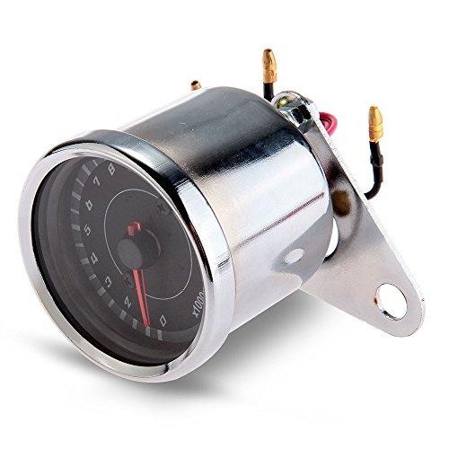 CARCHET® Motorrad Drehzahlmesser LED Hintergrundbeleuchtung Universal Mechanisch 13000RPM