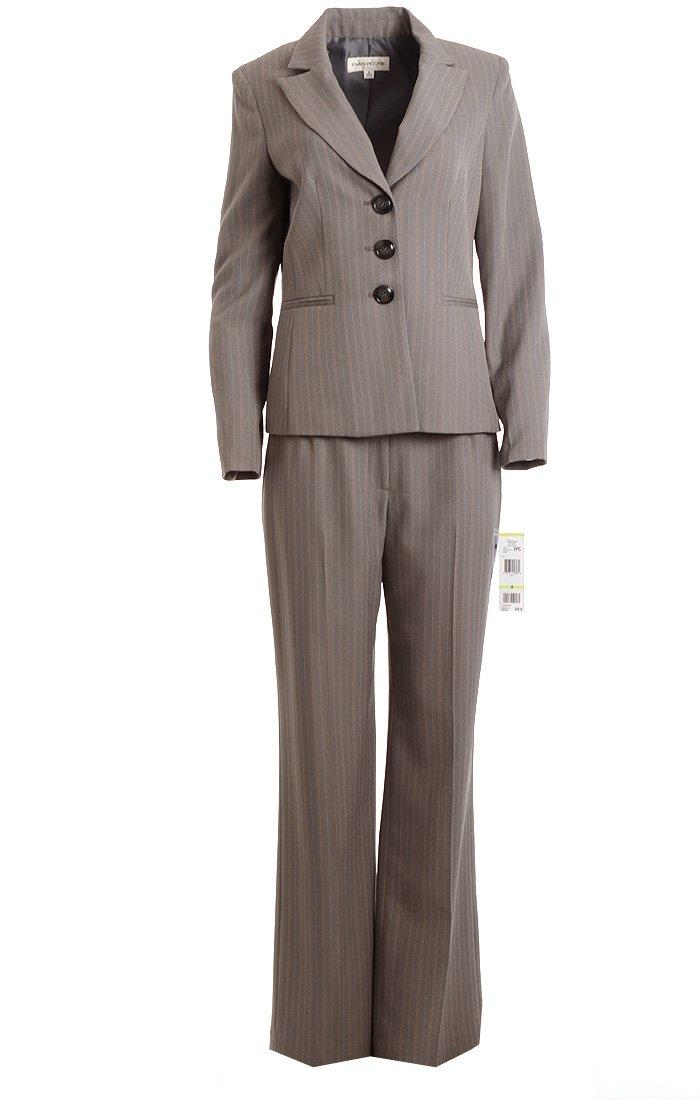 Evan-Picone New Gray Pinstripe Three-Button Blazer 4 $119 DBFL EvanPicone 4500521842