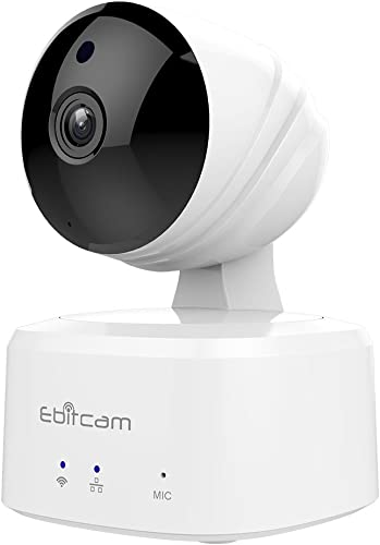 Ebitcam Smart Home WiFi Camera,Pan Tilt Zoom Remote Monitor, Night Vision, Two-Way Audio, Motion Alarm, Available for iOS Android PC,Cloud Service Available,Work with Alexa
