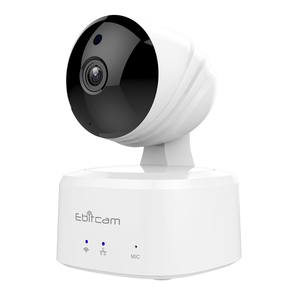 Ebitcam Smart Home WiFi Camera,Baby Monitor, Pan Tilt Zoom, Night Vision, Two-Way Audio, Motion Alarm, Available for iOS Android PC,Cloud Service Available,Work with Alexa