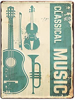 Photolini Cartel de Chapa Classical Music 30x40 cm Cartel de ...