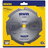 Irwin 15702 Fibercut 7-1/4-Inch 6 Tooth Fiber Cement Saw Blade with 5/8-Inch and Diamond Knockout Arbor