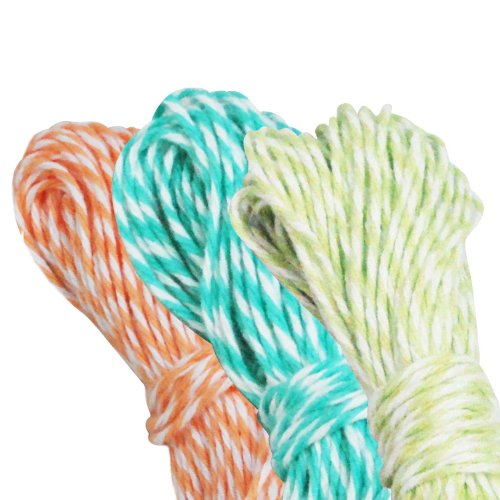 - Dress My Cupcake Baker's Twine Roll, Spring Collection, 15-Yard, Coral/Diamond Blue/Kiwi Green, Set of 3
