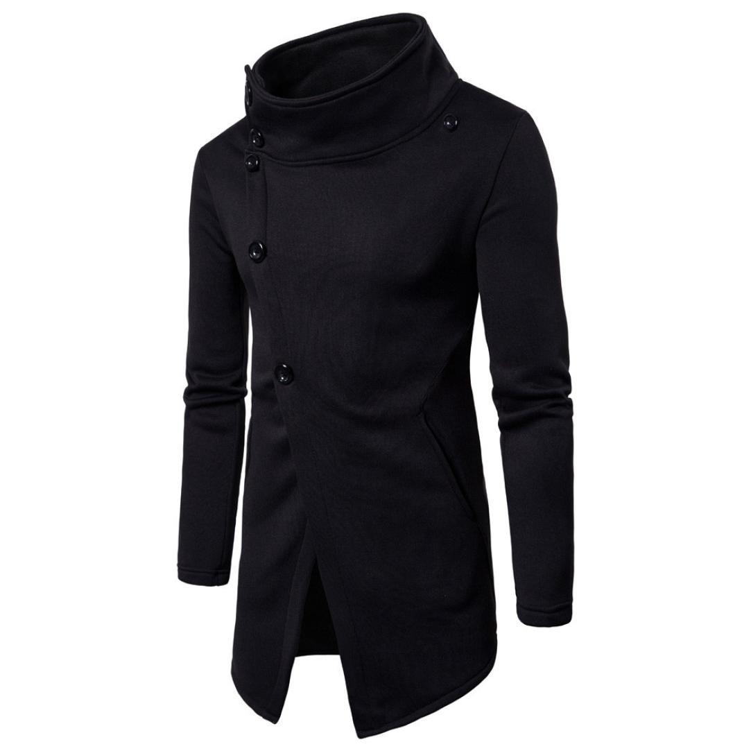 Clearance,Yang-Yi Fashion Men's Long Sleeve Pullover Sweatshirt Top Outwear Blouse (Black, S)