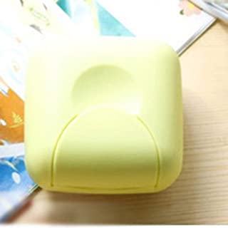 Portable Mini Handy Bathroom Dish Plate Case Home Shower Outdoor Travel Hiking Holder Container Sealing Soap Box - Green